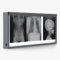 3d model xray light box x