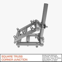 free truss corner junction 036 3d model