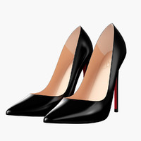3d louboutin black women heels model