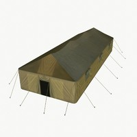 Military tent low poly