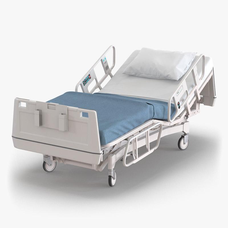 3d model of Hospital Bed 00.jpg