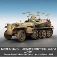 3d 3ds sd kfz 250 3