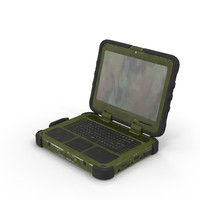 military laptop 3d obj