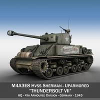3d m4a3e8 hvss sherman - model