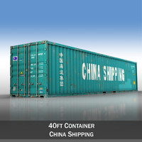 3d model of 40ft shipping container china