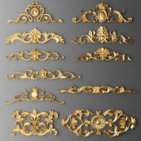 3d cartouches set model