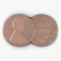 3d united states coin penny model