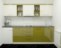 kitchen modern green 3d model
