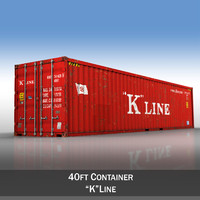 3d model of 40ft shipping container k