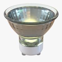 3d model spot light bulb glowing