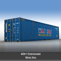 3d 40ft shipping container wan