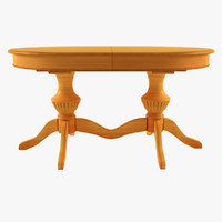 cavio como 117 dining table 3d model