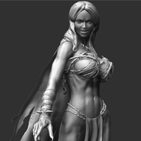 zbrush female character 3d model