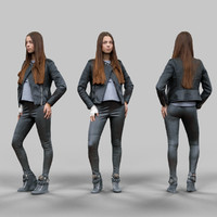 3d x girl leather