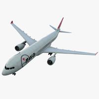 jet airliner airbus a330-300 3d c4d