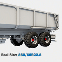 3d wheel 560 60r22 5 model