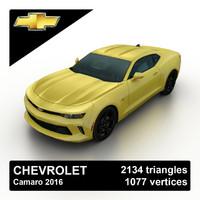 3d model 2016 chevrolet camaro