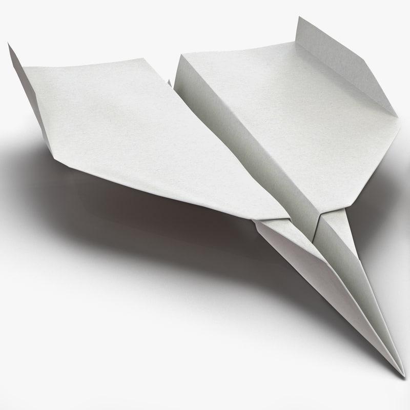 Paper Plane 3d model 00.jpg