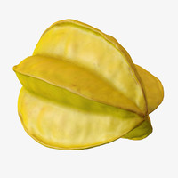 3d model star fruit polys