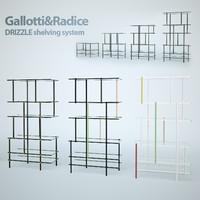 Gallotti&Radice DRIZZLE Shelving system