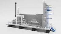 oil refining 3d max