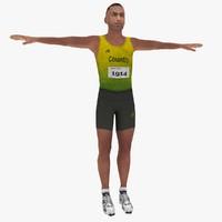 obj olympic athlete rigged