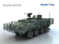 3d model m1126 stryker