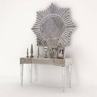 3d arte veneziana desk mirror