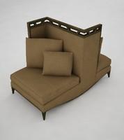 3d model love seat