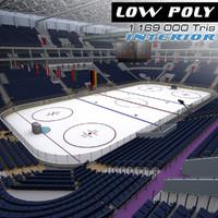 3d model ice arena