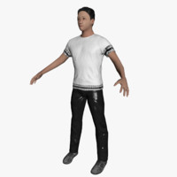 average caucasian male rigged 3d model