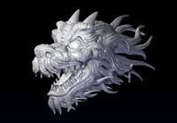 3d dragon head model