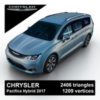 2017 chrysler pacifica hybrid 3d model