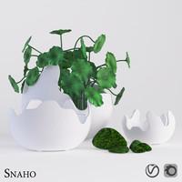 corona vase 3d model