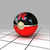 3d model team rocket ball