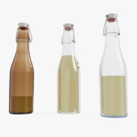 3d model bottle glass oils