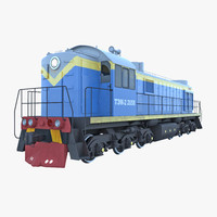 3d model russian diesel locomotive tem-2