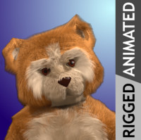 future toy teddy 3d model