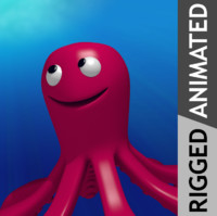octopus animation 3d 3ds