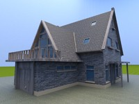 3d model of old house