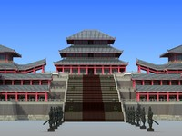 3d model of chinese building