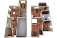 3ds furnitured house interior floor