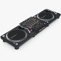 3d model of dj pioneer setup 2