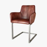 vintage buffalo shelby armchair 3d max