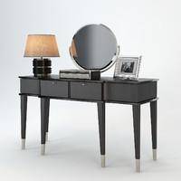 angelo cappellini dressing table 3d obj