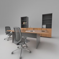 3d office meeting table model