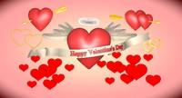 3d model hearts set valentine s