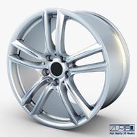 3d style 303 wheel silver