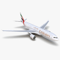 3d model airbus a330 p2f emirates
