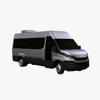 iveco daily minibus 3d model